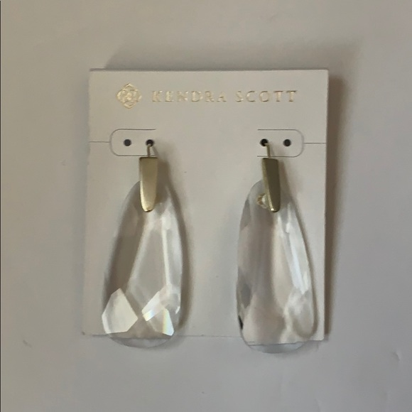 Kendra Scott Jewelry - Kendra Scott, Earrings, Gold and Crystal, NWT